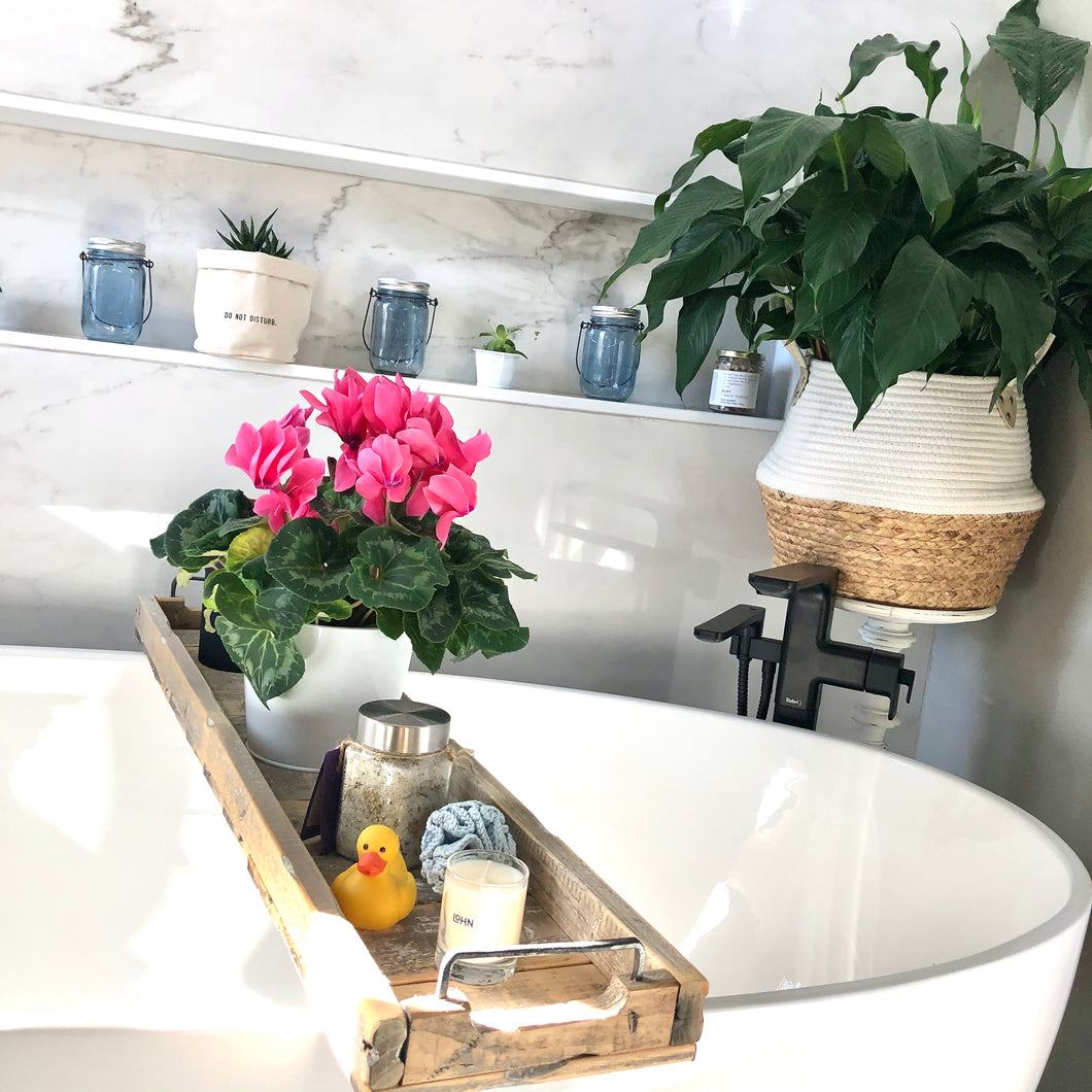 Rectangular Wooden Tub Tray