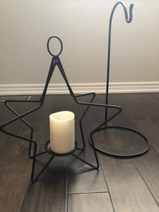 "Large Star Candle Holder and  24"" Stand $44.00"