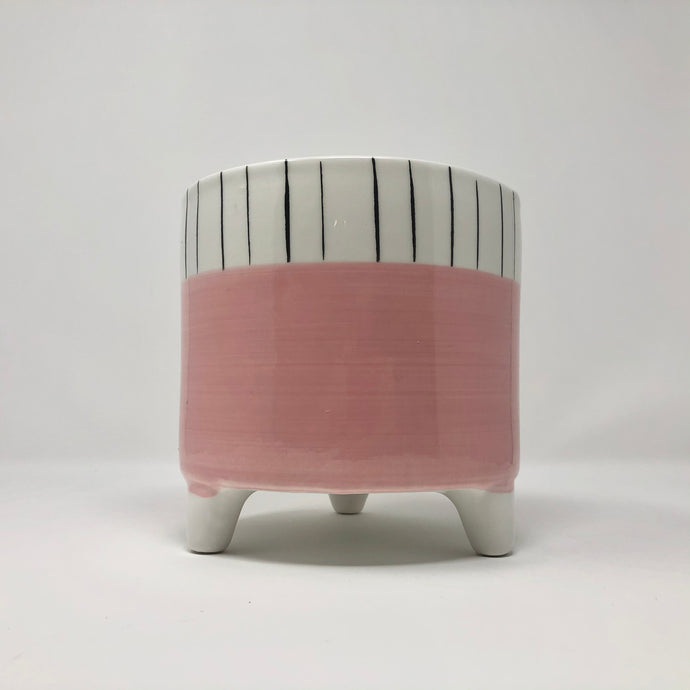 Footed Pink Planter