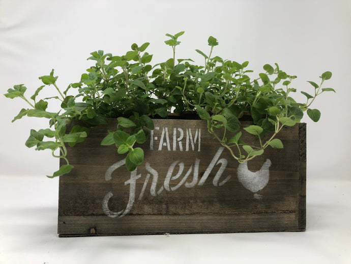Farm Fresh Woodland Planter