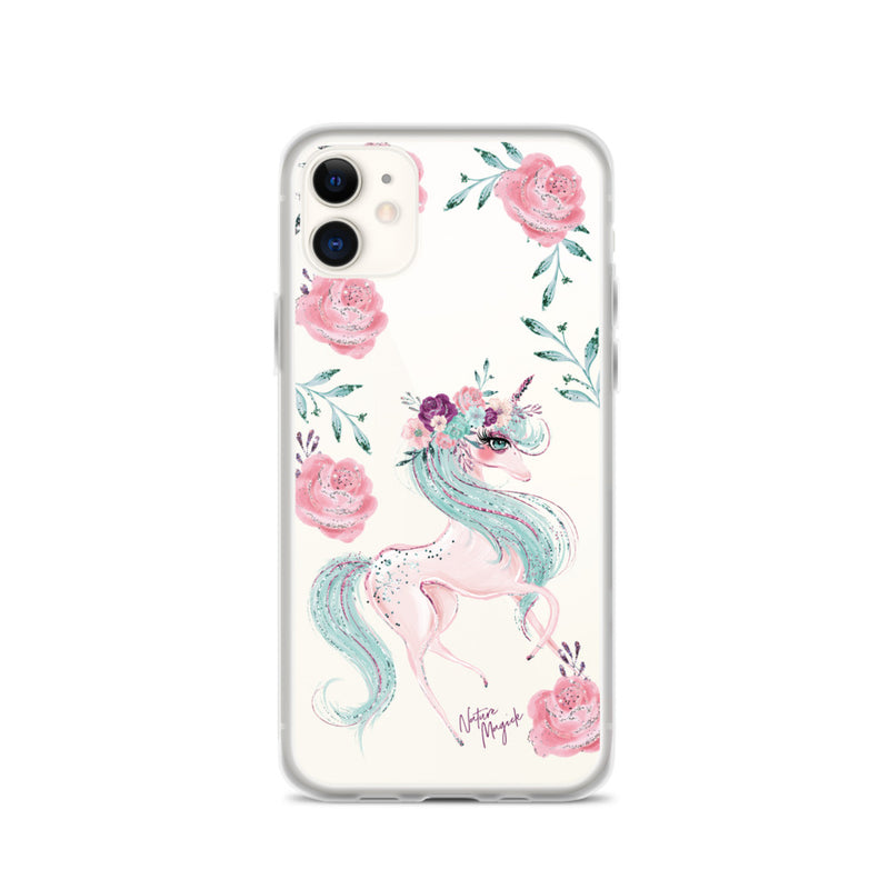Clear Unicorn iPhone Case by Nature Magick