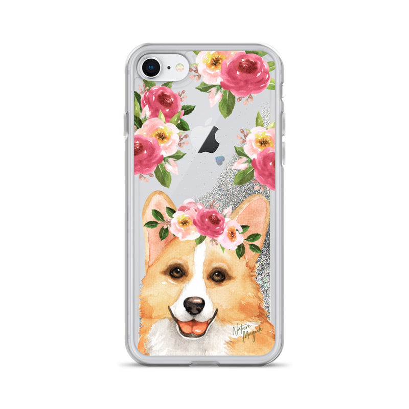 Corgi Dog Glitter Phone Case for iPhone by Nature Magick