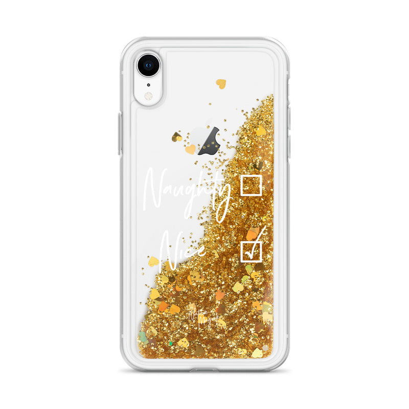 Christmas Glitter iPhone Case Naughty or Nice by Nature Magick