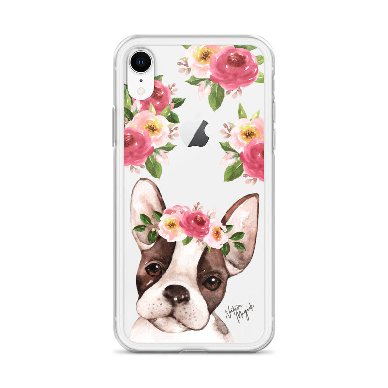 Clear Boston Terrier Dog Phone Case for iPhone by Nature Magick