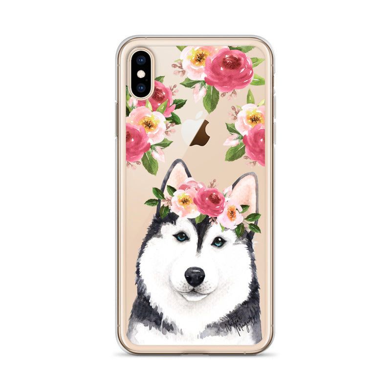 Clear Siberian Husky Dog Phone Case for iPhone by Nature Magick
