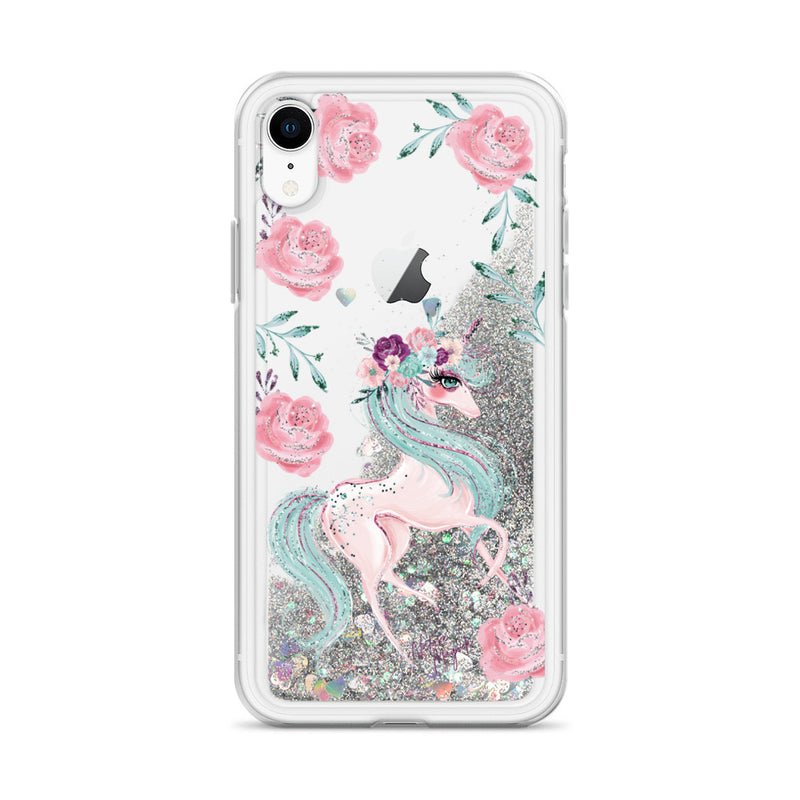 Unicorn Glitter iPhone Case by Nature Magick