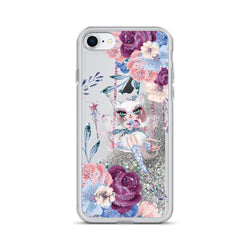 Winter Fox Fairy Floral Glitter iPhone Case by Nature Magick