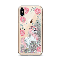 Unicorn Glitter iPhone Case by Nature Magick in Pink Roses
