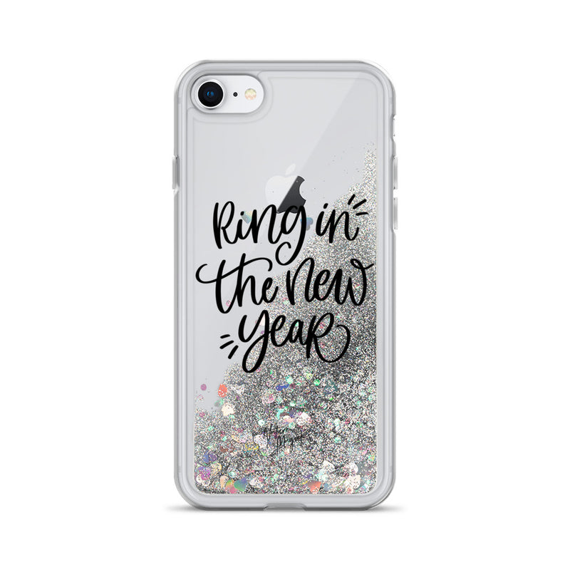 Christmas Glitter iPhone Case Ring in the New Year by Nature Magick