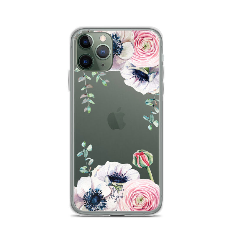 Clear Flower iPhone Case Rose Pink by Nature Magick