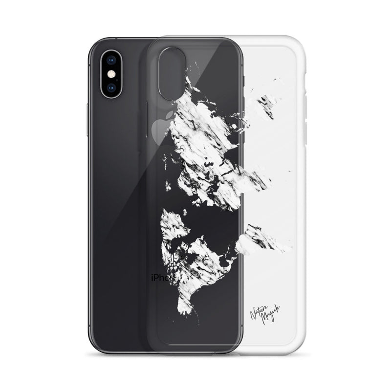 Clear World Map Marble iPhone Case by Nature Magick