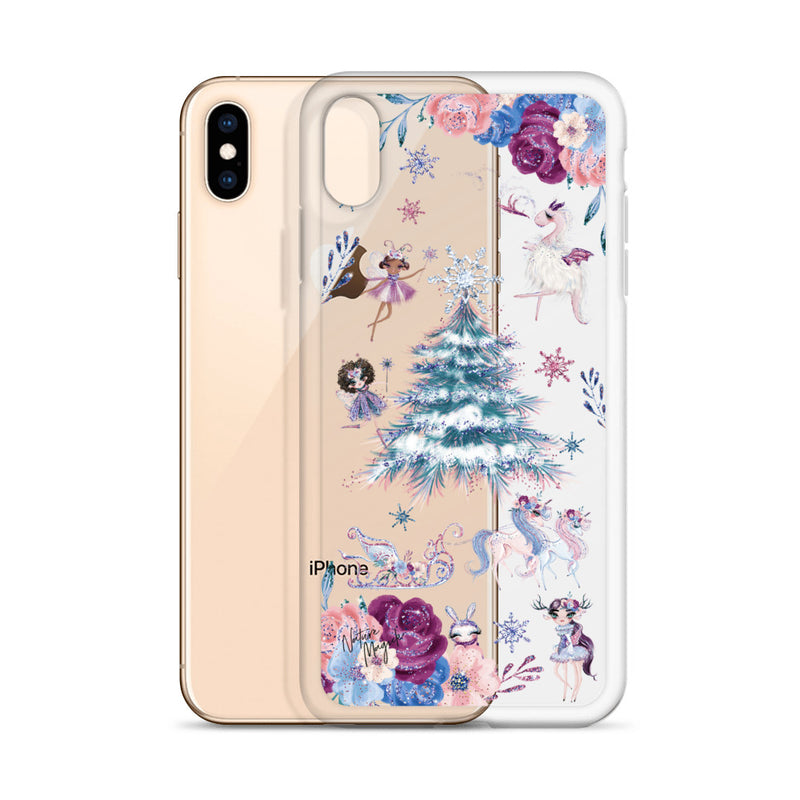 Clear Christmas Tree iPhone Case in Sugarplum Fairy by Nature Magick