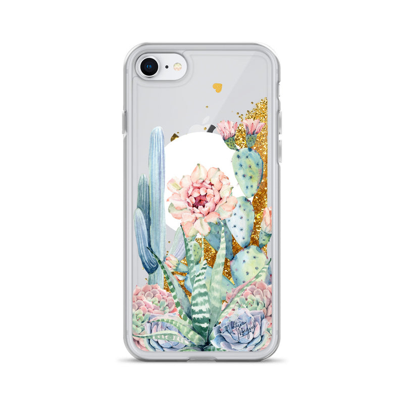 Moon Cactus Glitter Phone Case for iPhone by Nature Magick
