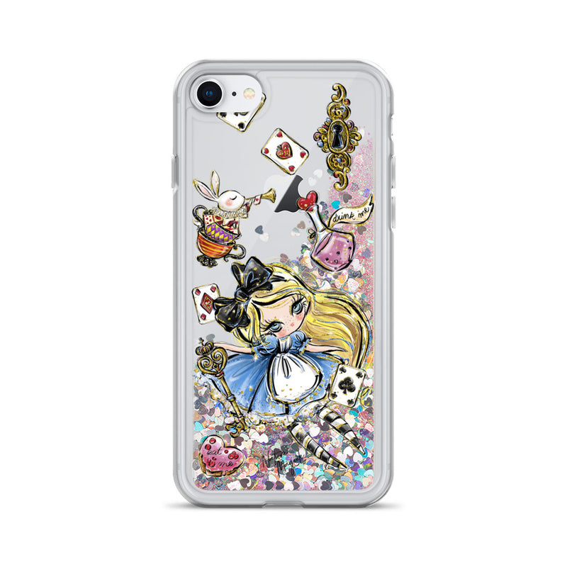 Alice in Wonderland Glitter iPhone Case by Nature Magick
