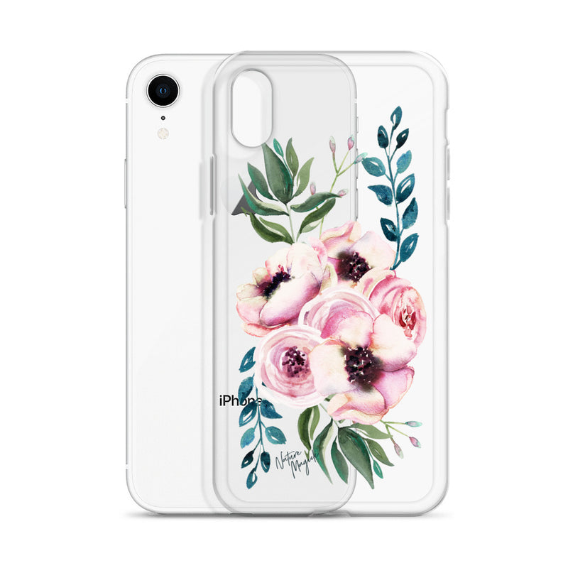 Clear Flower iPhone Case Blue Rose by Nature Magick