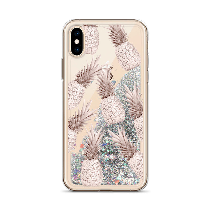 Rose Gold Pineapple Glitter iPhone Case Luxury by Nature Magick
