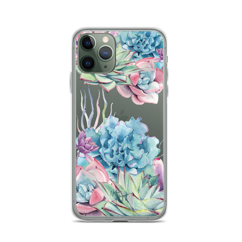 Clear Succulent Garden iPhone Case by Nature Magick