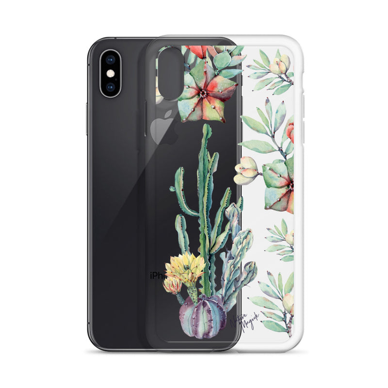 Clear Cactus iPhone Case Succulent by Nature Magick