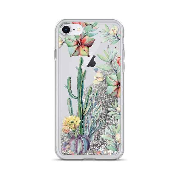 Cactus Glitter iPhone Case Succulent by Nature Magick