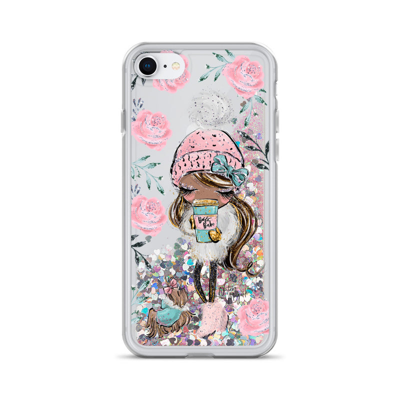 Boss Babe Glitter iPhone Case Winter Rose by Nature Magick