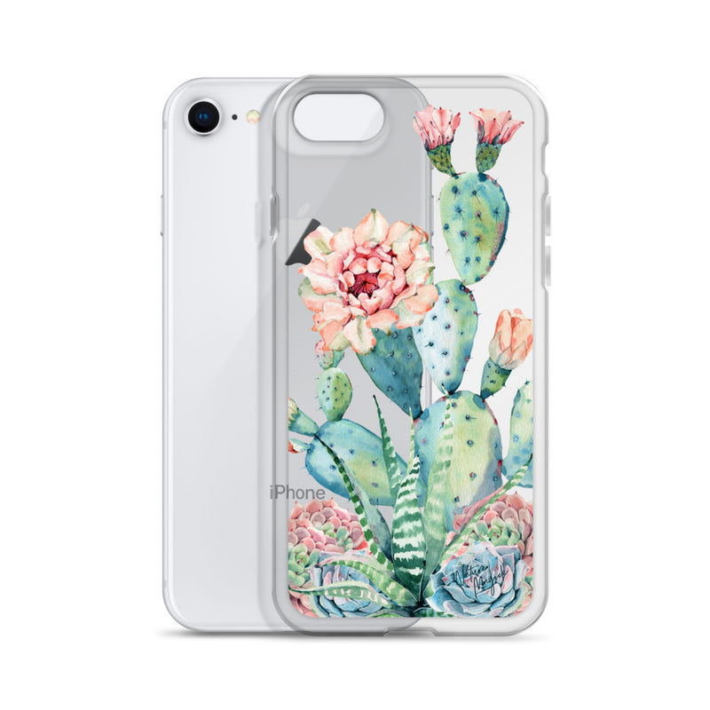 Clear Cactus Phone Case for iPhone by Nature Magick