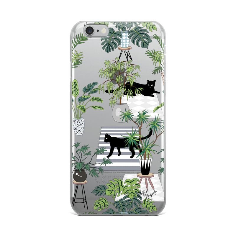 Clear Black Cat iPhone Case by Nature Magick