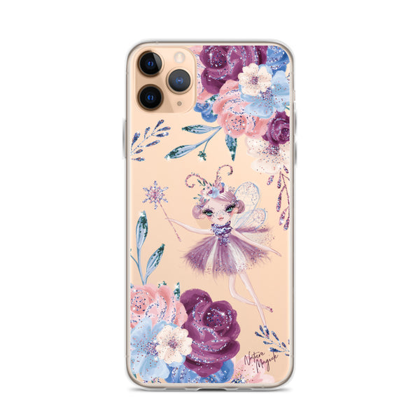 Clear Winter Fairy Flower iPhone Case by Nature Magick