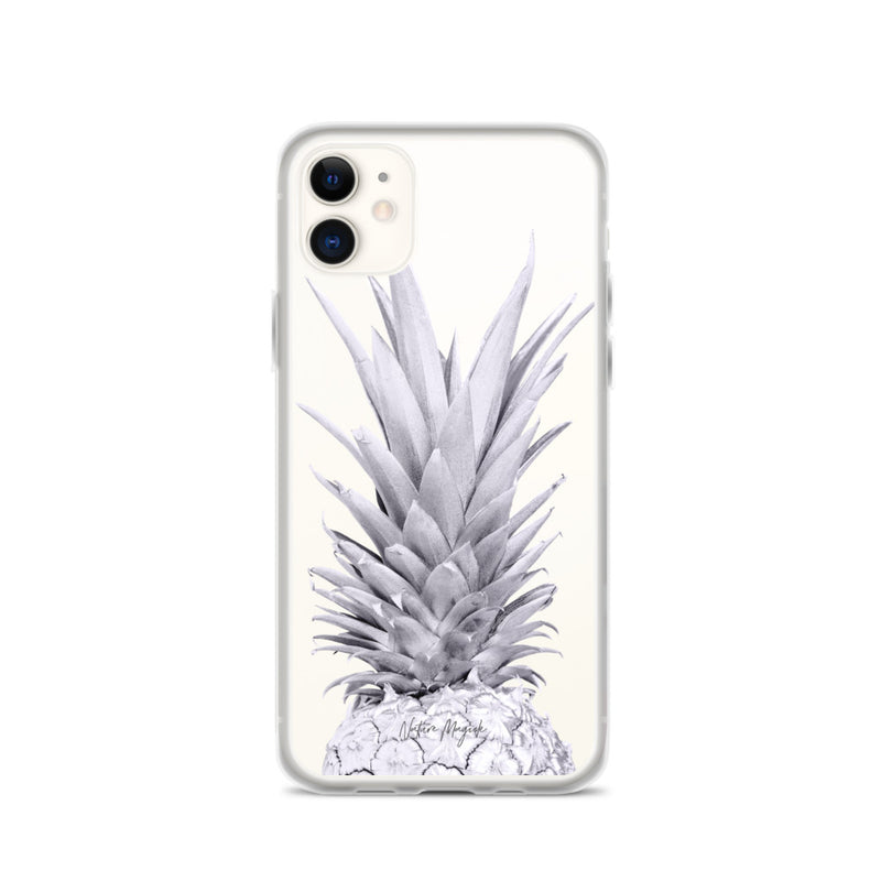 Clear Pineapple iPhone Case Purple Top by Nature Magick