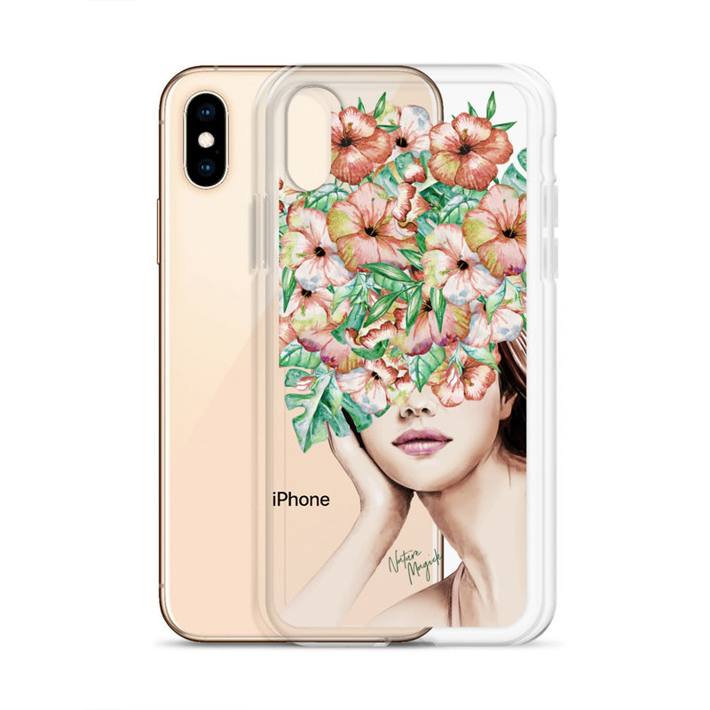 Clear Fashion Girl iPhone Case with Flowers by Nature Magick