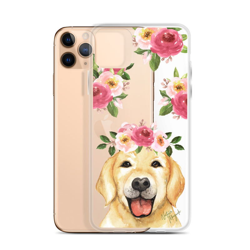 Clear Golden Retriever Dog Phone Case for iPhone by Nature Magick