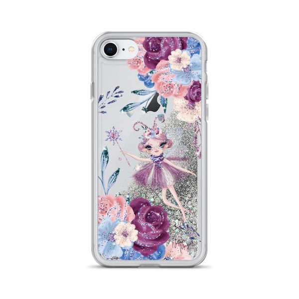 Winter Fairy Flower Glitter iPhone Case by Nature Magick