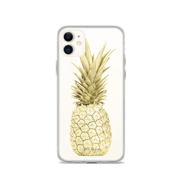 Clear Yellow Gold Pineapple iPhone Case by Nature Magick