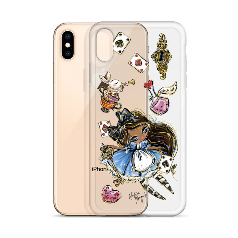 Clear Alice in Wonderland iPhone Case by Nature Magick