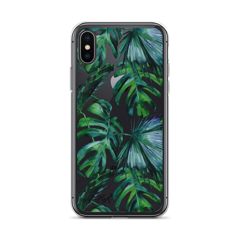 Clear Tropical Palm Leaf iPhone Case by Nature Magick