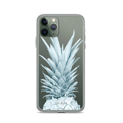 Clear Pineapple iPhone Case Blue by Nature Magick