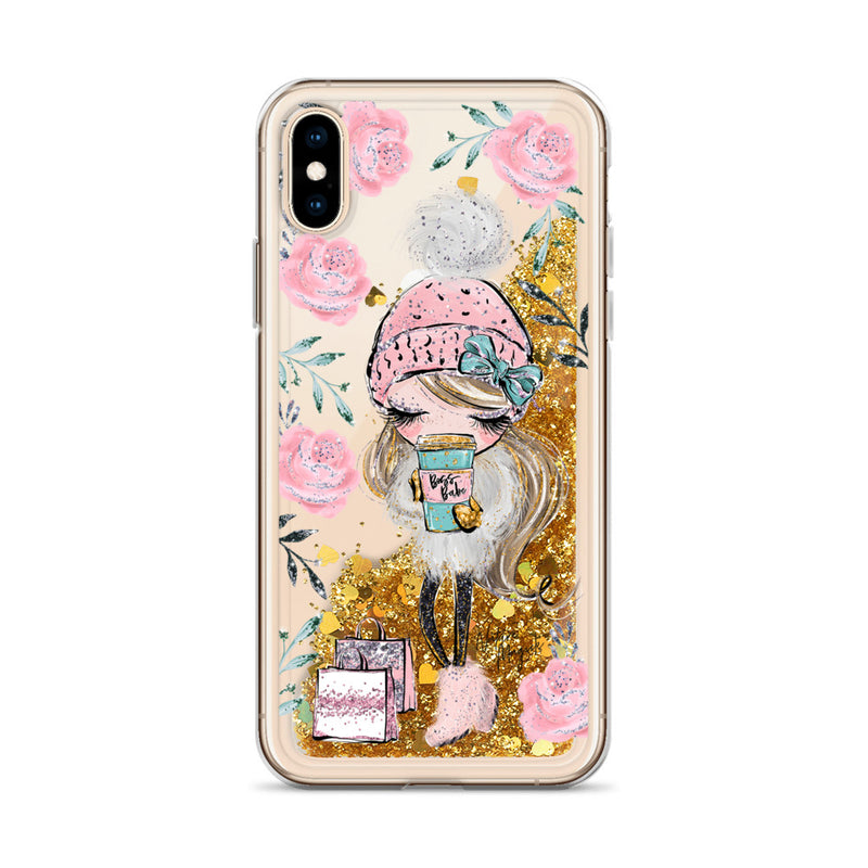 Shopping Boss Babe Glitter iPhone Case by Nature Magick