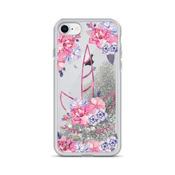 Unicorn Glitter iPhone Case by Nature Magick in Purple Pink Floral