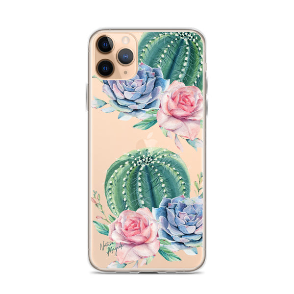 Clear Cactus iPhone Case by Nature Magick
