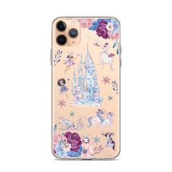 Clear Fairy Tale Castle iPhone Case by Nature Magick
