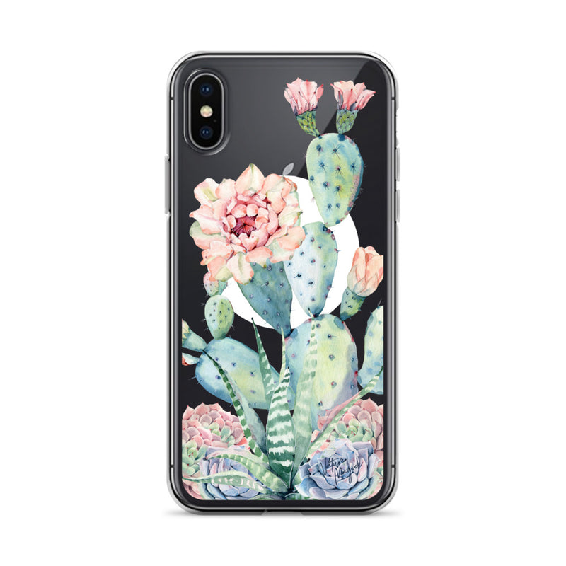 Clear Moon Cactus Phone Case for iPhone by Nature Magick