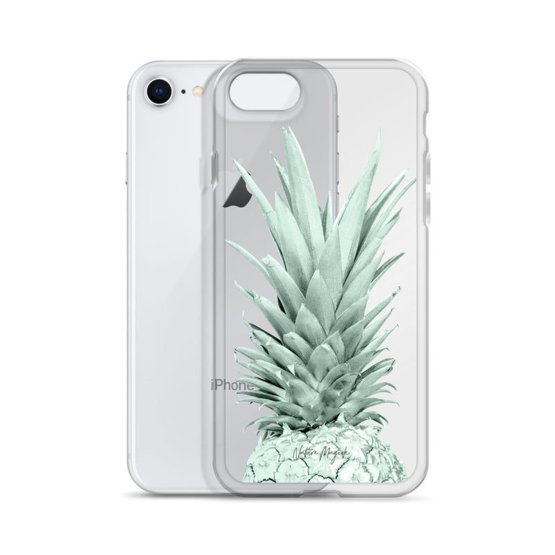 Clear Pineapple iPhone Case in Green Top by Nature Magick