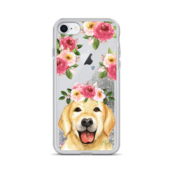 Golden Retriever Dog Glitter Phone Case for iPhone by Nature Magick