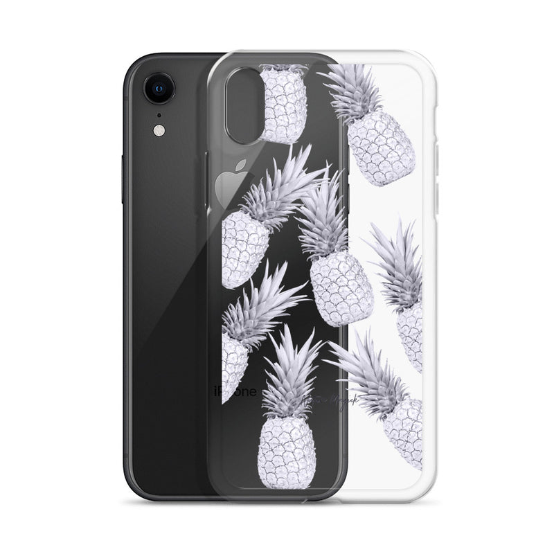 Clear Pineapple iPhone Case Purple by Nature Magick