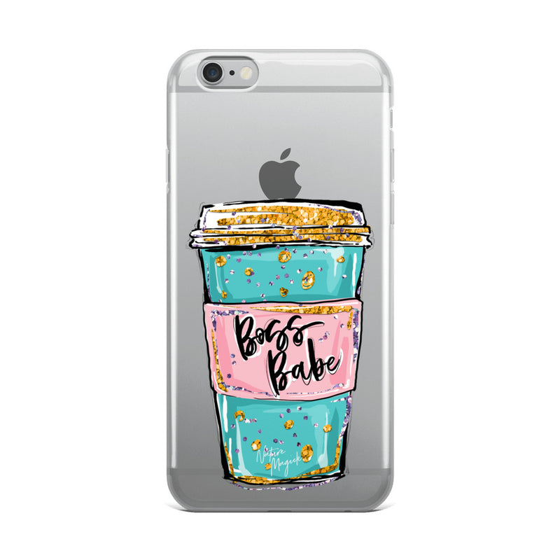 Clear Boss Babe Phone Case for iPhone by Nature Magick