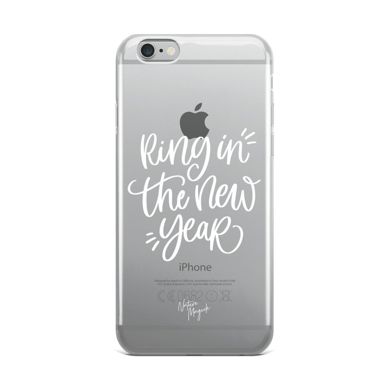 Clear Christmas iPhone Case Ring in the New Year by Nature Magick