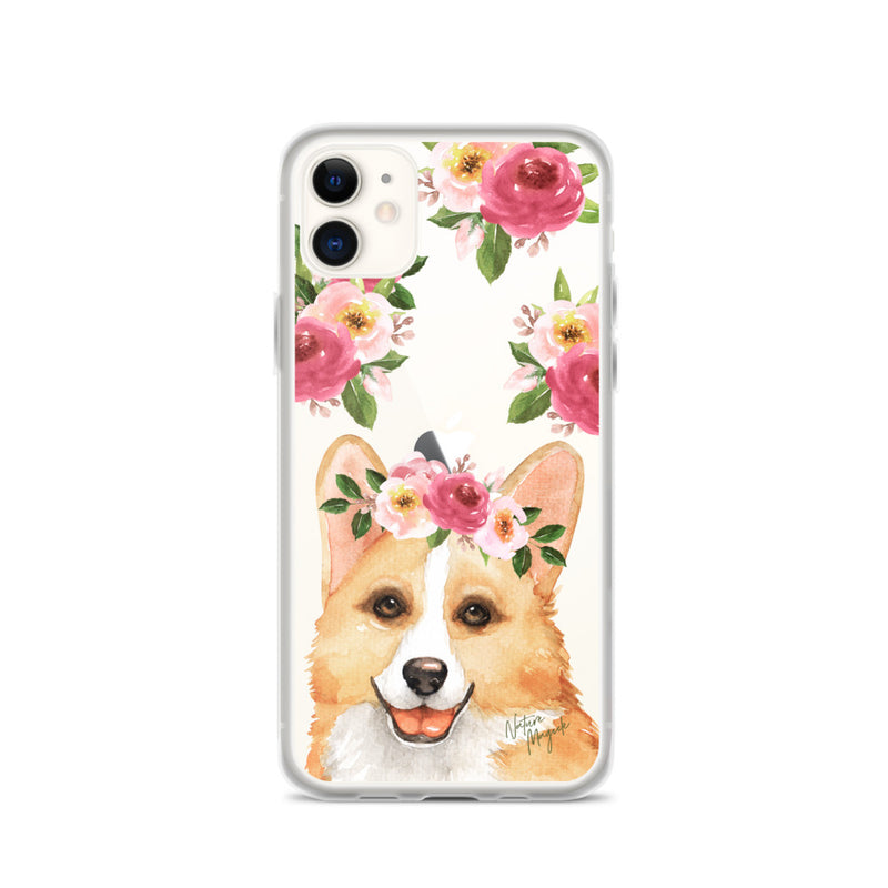 Clear Corgi Dog Phone Case for iPhone by Nature Magick