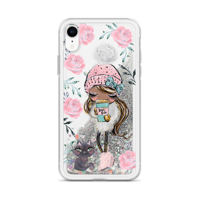 Boss Babe Glitter iPhone Case Winter Cat Walk by Nature Magick