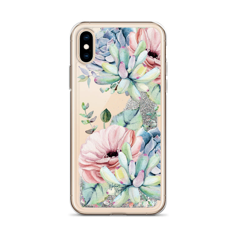Succulent Glitter Phone Case for iPhone by Nature Magick