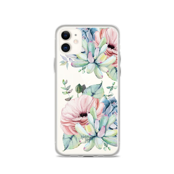 Clear Succulent Phone Case for iPhone by Nature Magick