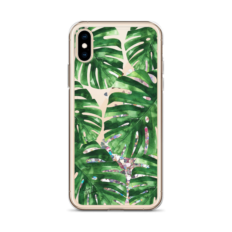 Palm Leaf Glitter iPhone Case by Nature Magick